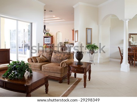 Modern Home Interior - stock photo
