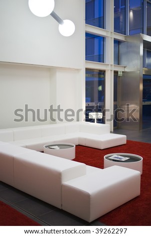 Modern home interior with furniture - stock photo