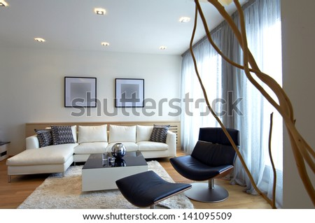 Modern home living room - stock photo