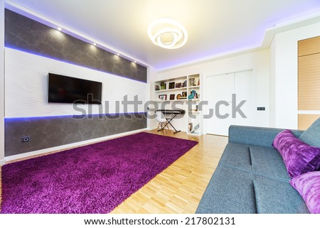 modern home theater interior  - stock photo