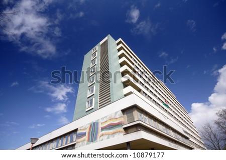 Modern hospital - stock photo