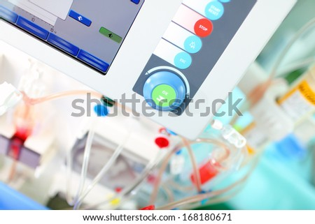 modern hospital equipment - stock photo