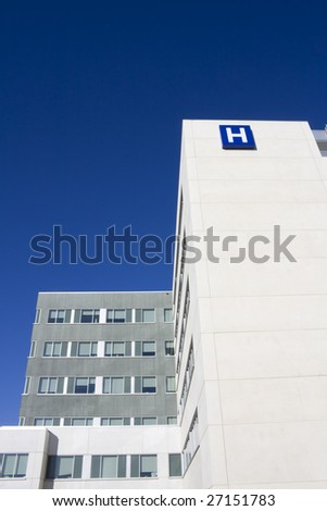 Modern hospital in canada - stock photo