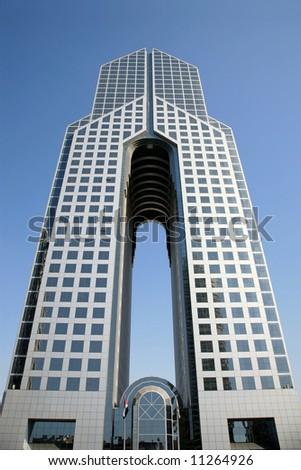 Modern Hotel Building in Dubai UAE - stock photo