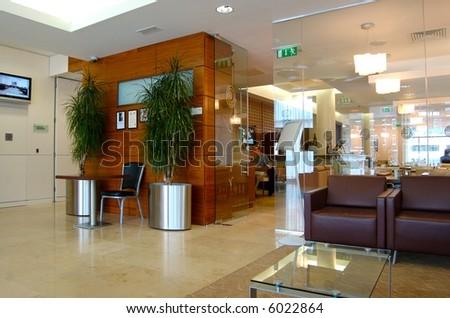 Modern Hotel Lobby - stock photo