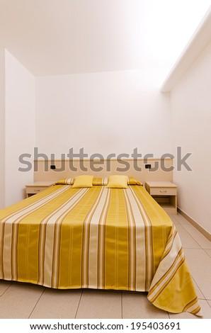 Modern hotel room interior - stock photo