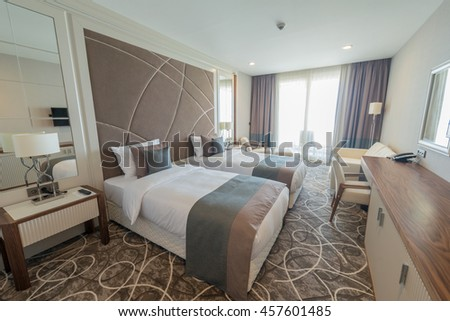 Modern Hotel Room hotel modern stock images, royalty-free images & vectors