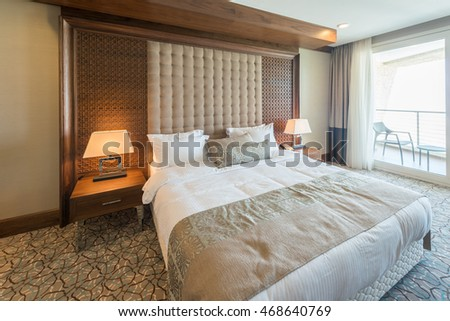 Modern Hotel Room luxury hotel room stock images, royalty-free images & vectors