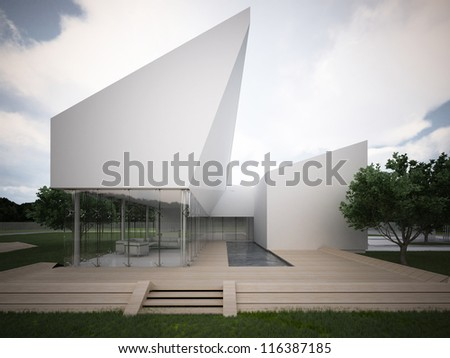 Hi tech building stock images royalty free images for Architecture high tech