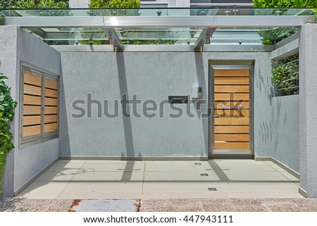 modern house entrance, Athens Greece