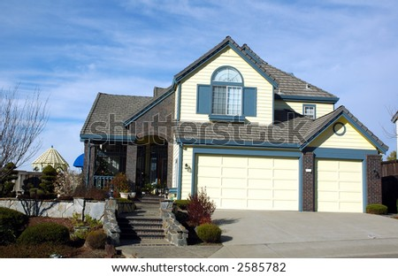 Modern house in Northern California - stock photo