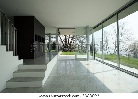 modern house in switzerland - stock photo