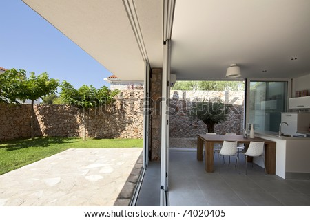 Modern house interior - stock photo