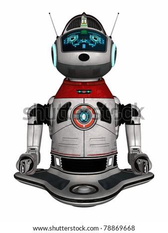 Modern house robot - stock photo