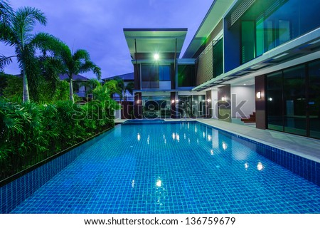 Inground Pools At Night swimming-pool stock images, royalty-free images & vectors