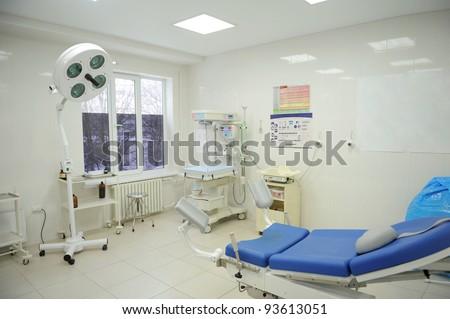Modern incubator's room at hospital - stock photo