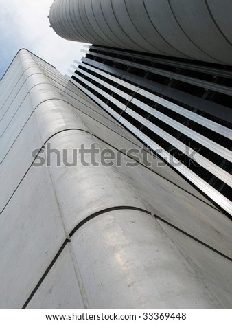 Modern industrial buildig - stock photo