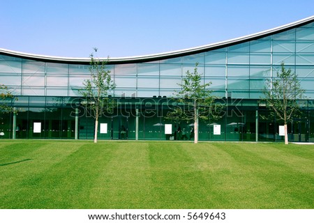 Modern industrial building - stock photo