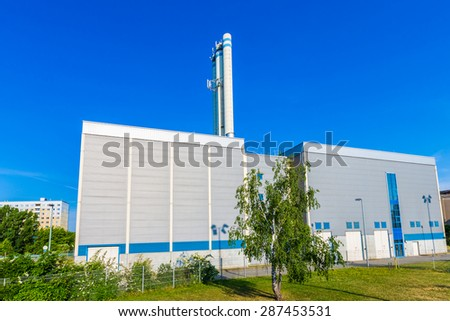 Modern industrial production building