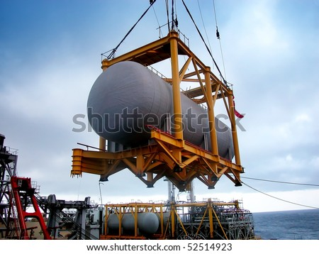modern industry-oil tank construction - stock photo