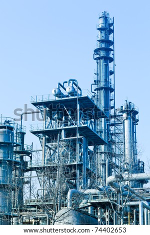modern Industry, refinery complex - stock photo