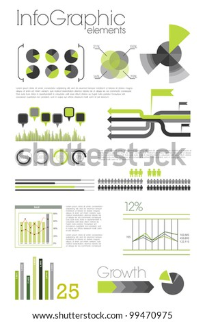 Modern infographic - stock photo
