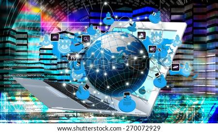 Modern innovation compiting technology.Globalization - stock photo