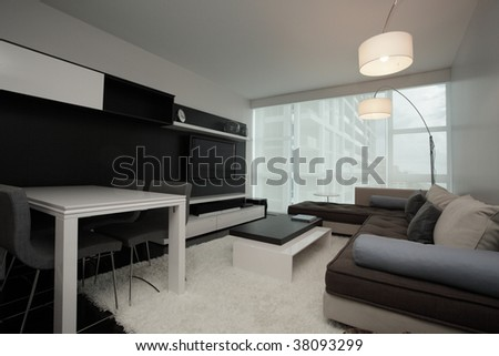 Modern interior apartment. 