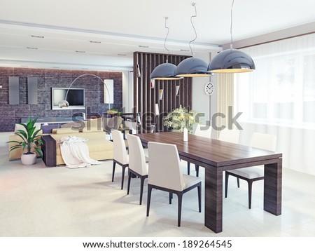 modern interior. CG design concept - stock photo