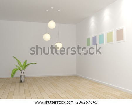 Modern interior conposition. - stock photo