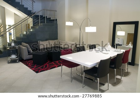 Modern interior - dining room