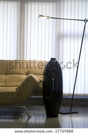 Modern interior - dining room fragment - stock photo