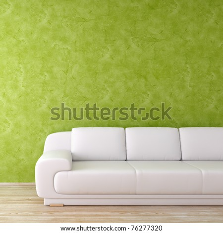 Modern interior green square background - more variations in portfolio - stock photo