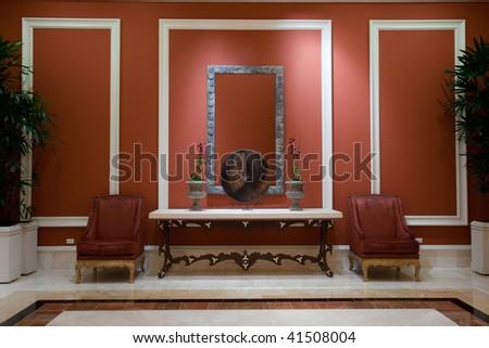 Modern interior | Living room - stock photo