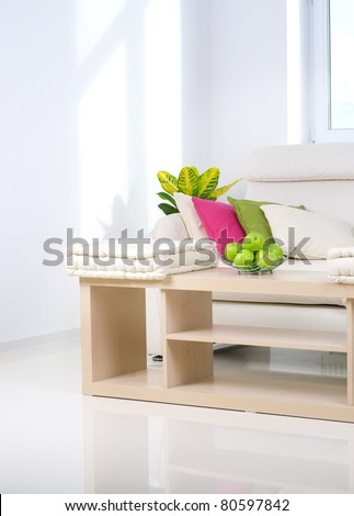 Modern Interior.Living Room - stock photo