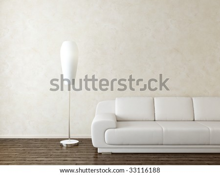 modern interior - more variations of this picture in portfolio - stock photo