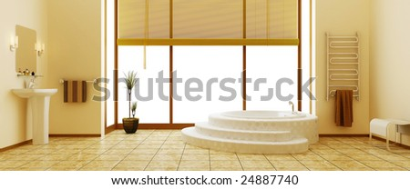 Modern interior of a bathroom - stock photo