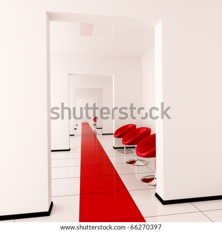 Modern interior of a hall - stock photo