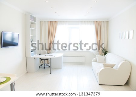 modern interior of living room - stock photo