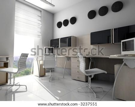 Modern interior of office - stock photo