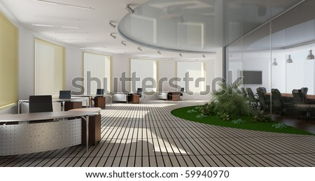 Modern interior of office - stock photo