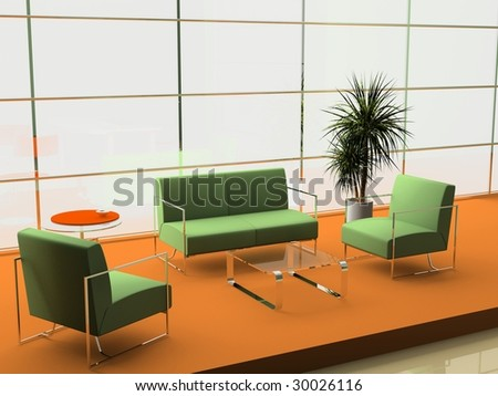 modern interior of office 3D