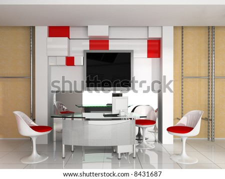 Modern interior of office exclusive design - stock photo