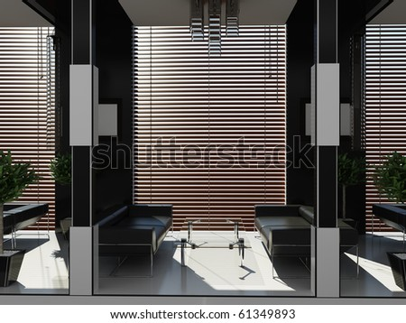 Modern interior of room - stock photo
