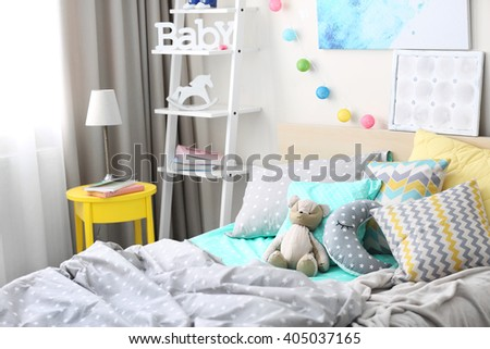 Modern interior of the child's bedroom