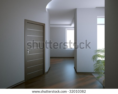 modern interior open space - stock photo
