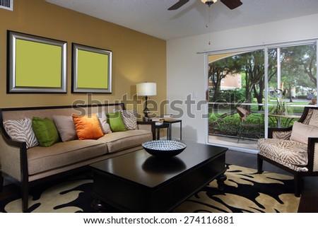 Modern interior showcase model - stock photo