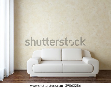 Modern interior with sofa - variations of this picture in my portfolio - stock photo