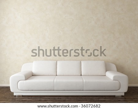 modern interior with white sofa - more variations in my portfolio