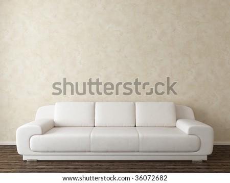 modern interior with white sofa - more variations in my portfolio - stock photo
